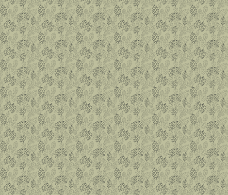 Pale Green Hop Haze  fabric by a_bushel_of_hops on Spoonflower - custom fabric