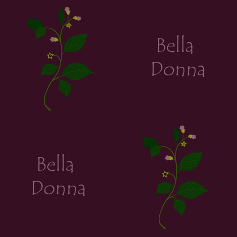 Bella Donna (dark) fabric by arts_and_herbs on Spoonflower - custom fabric