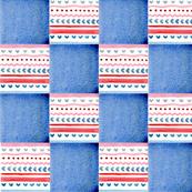 Patchwork folk blue
