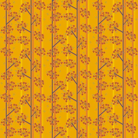 barn owl_flax meadow MINI fabric by kheckart on Spoonflower - custom fabric