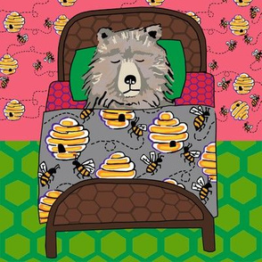 quilt block 2 of 3: dream honey bear