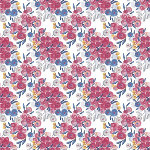 Fancy Flowers Watercolor