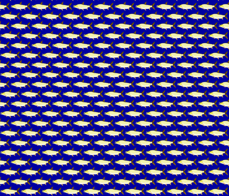 Giant Tigerfish blue background fabric by combatfish on Spoonflower - custom fabric