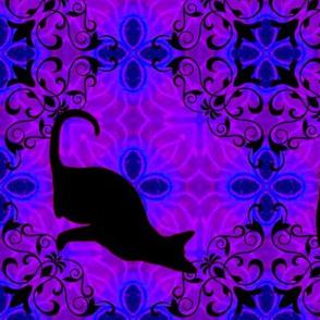 Cat Damask 9, sideways
