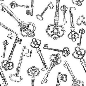 Stylized Antique Keys // Large