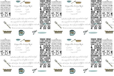 Moms Recipes for Kitchen Towels by Salzanos fabric by salzanos on Spoonflower - custom fabric