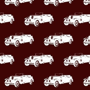 "Classic Car on Burgundy - Small (2.5"")"