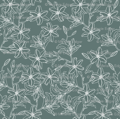 Lilies Bouquet in grey