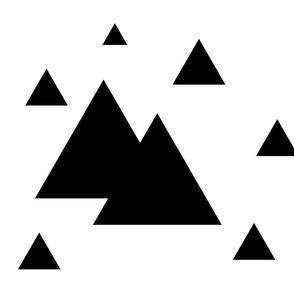 Geometric Triangles B&W
