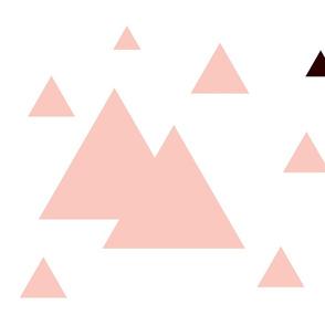 Geometric Triangles Pink w/ Black