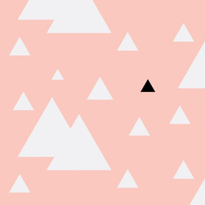 Geometric Triangles Pink w/ Black White