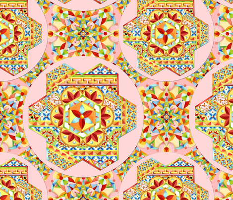 Pink Polka Dots Gypsy Caravan fabric by patriciasheadesigns on Spoonflower - custom fabric