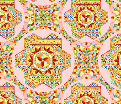 Pink Polka Dots Gypsy Caravan fabric by patriciasheadesigns on Spoonflower - custom fabric