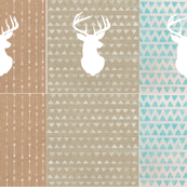 Linen stag cushions #3