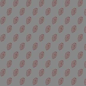 Red Hop Diagonals on Grey