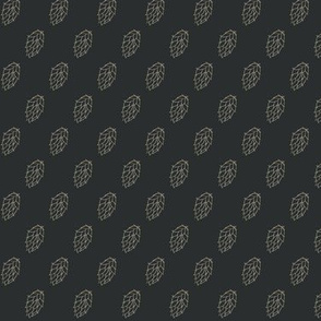 Old Linen Hop Stripes on Charcoal