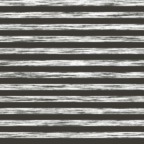 Stripes Grunge Pencil Charcoal  White & Black fabric by caja_design on Spoonflower - custom fabric