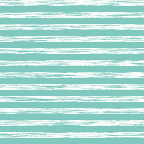 Stripes Grunge Pencil Charcoal  Mint Green fabric by caja_design on Spoonflower - custom fabric