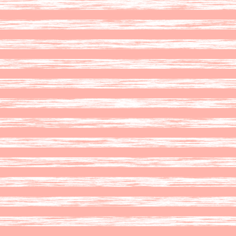 Stripes Grunge Pencil Charcoal Peach Pink fabric by caja_design on Spoonflower - custom fabric