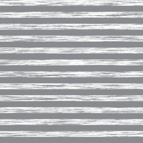 Stripes Grunge Pencil Charcoal Grey & White