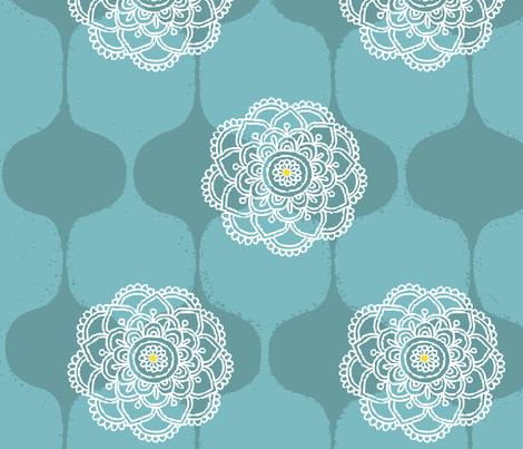 I DREAM OF GENIE - SEAFOAM fabric by ginger&wasabi on Spoonflower - custom fabric