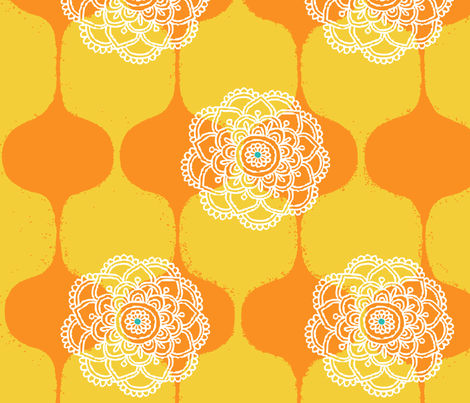 I DREAM OF GENIE - YELLOW/ORANGE fabric by ginger&wasabi on Spoonflower - custom fabric