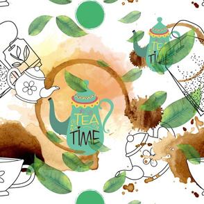 Teatime on White