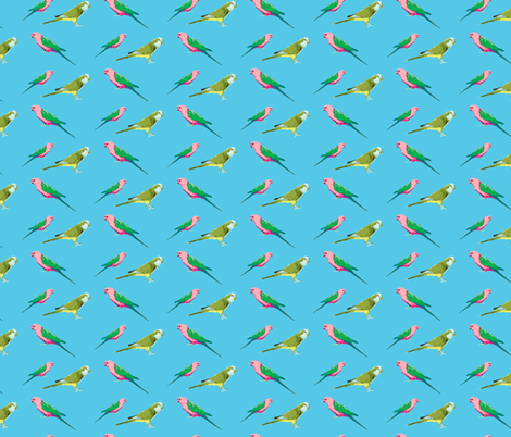 PARROT PARADE fabric by melanie_hodge on Spoonflower - custom fabric