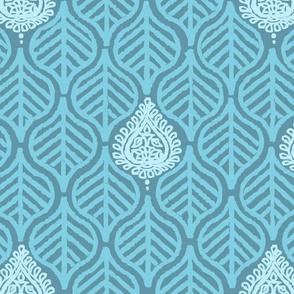 PLANTAIN LEAF - PETROL BLUE