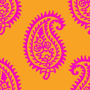 PAISLEY POP - ORANGE/PINK