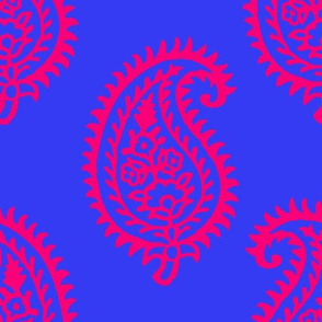 PAISLEY POP - BLUE/RED-NEON