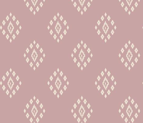 ikat mauve fabric by mdumford on Spoonflower - custom fabric