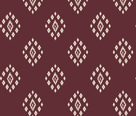 ikat red  fabric by mdumford on Spoonflower - custom fabric