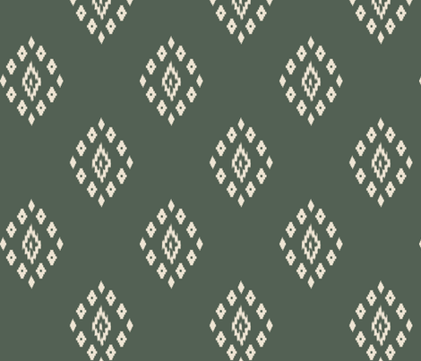 ikat olive fabric by mdumford on Spoonflower - custom fabric