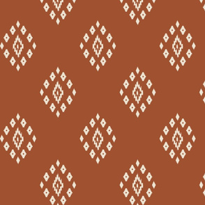 ikat burnt orange