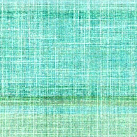 Faux linen aqua Beach stripe horizontal fabric by joanmclemore on Spoonflower - custom fabric