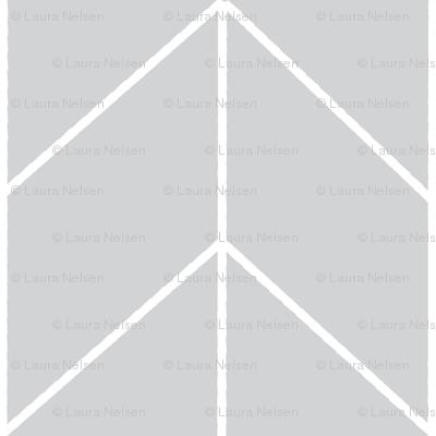 Small Arrow Chevron - French Gray