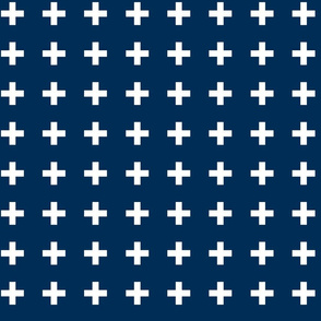 Swiss Cross - Navy