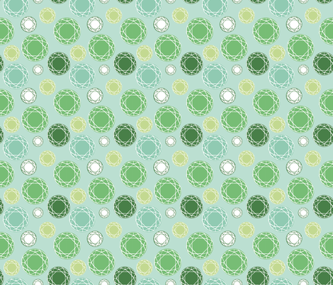 Green Gem Stone fabric by jenny_wilkinson on Spoonflower - custom fabric