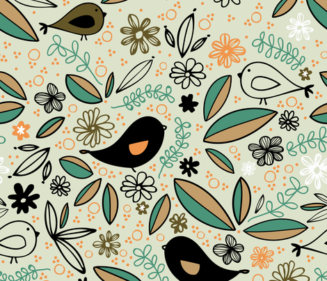 Partridge fabric by designertre on Spoonflower - custom fabric