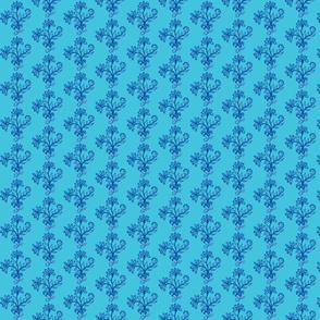 Flower Trio Navy/Turquoise