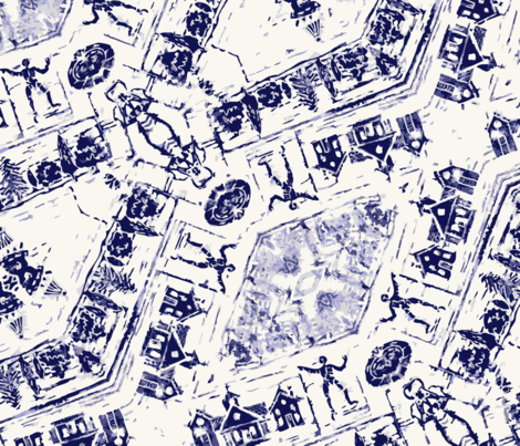 modern_toile fabric by lfntextiles on Spoonflower - custom fabric