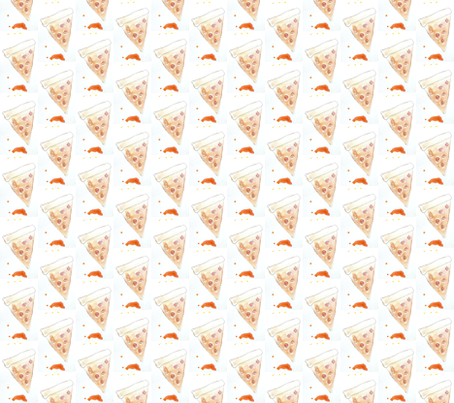 Pepperoni Pizza fabric by christyseibel on Spoonflower - custom fabric