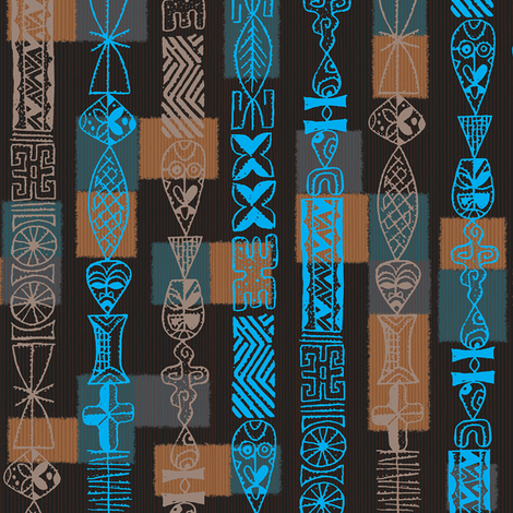 Tiki Beads 1b fabric by muhlenkott on Spoonflower - custom fabric