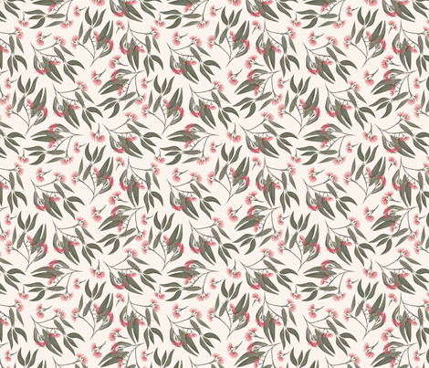 Gumnut Branches fabric by melarmstrongdesign on Spoonflower - custom fabric
