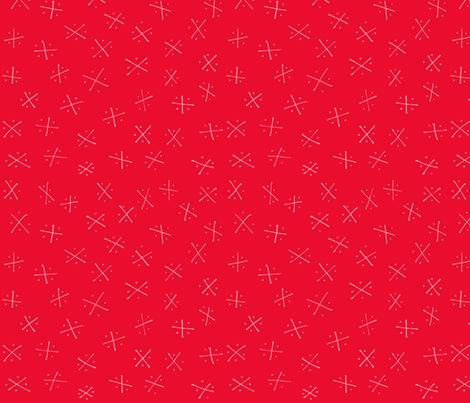 Quadrants: Red Apple fabric by laurelpoppyandpine on Spoonflower - custom fabric