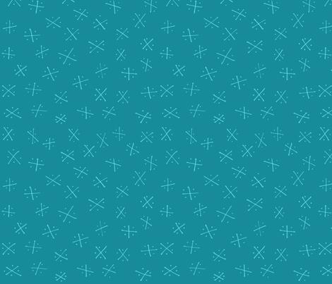 Quadrants: Ocean fabric by laurelpoppyandpine on Spoonflower - custom fabric