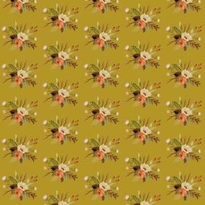 Autumn Floral on Mustard