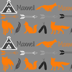 Maxwell with foxes