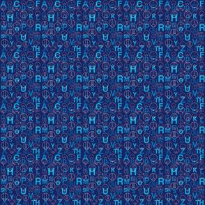 Gallifreyan Alphabet - 4 in. Repeat